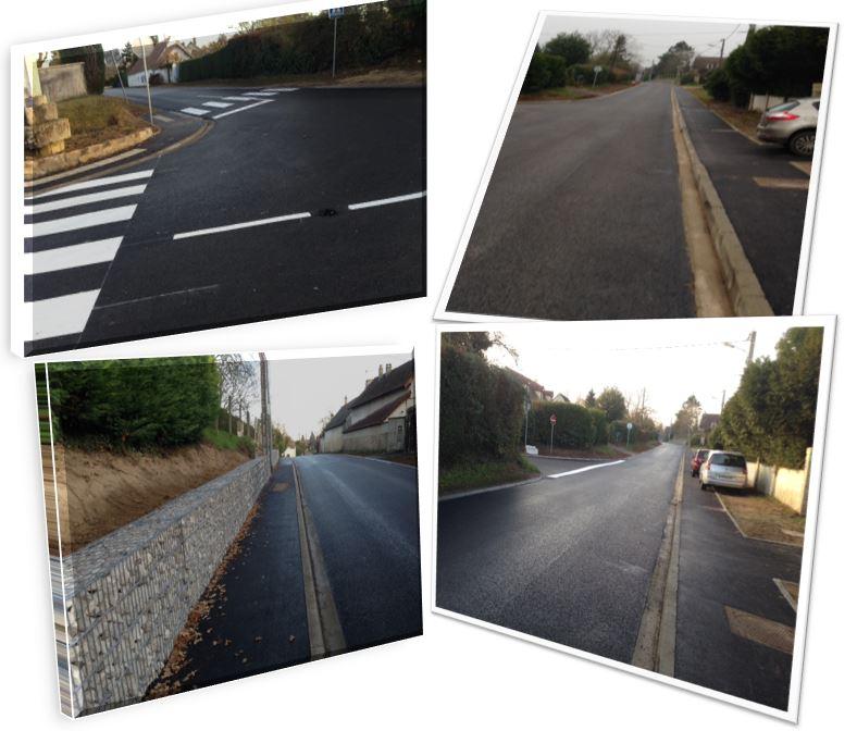 trottoirs route de Rambouillet